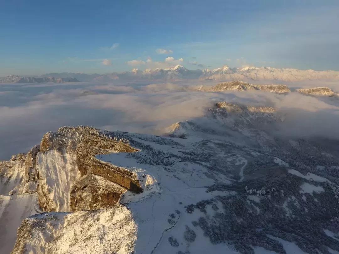 1月16日光头山雾凇雪地穿越2日自驾:360度观景平台看日出日落贡嘎雪山越野车自驾